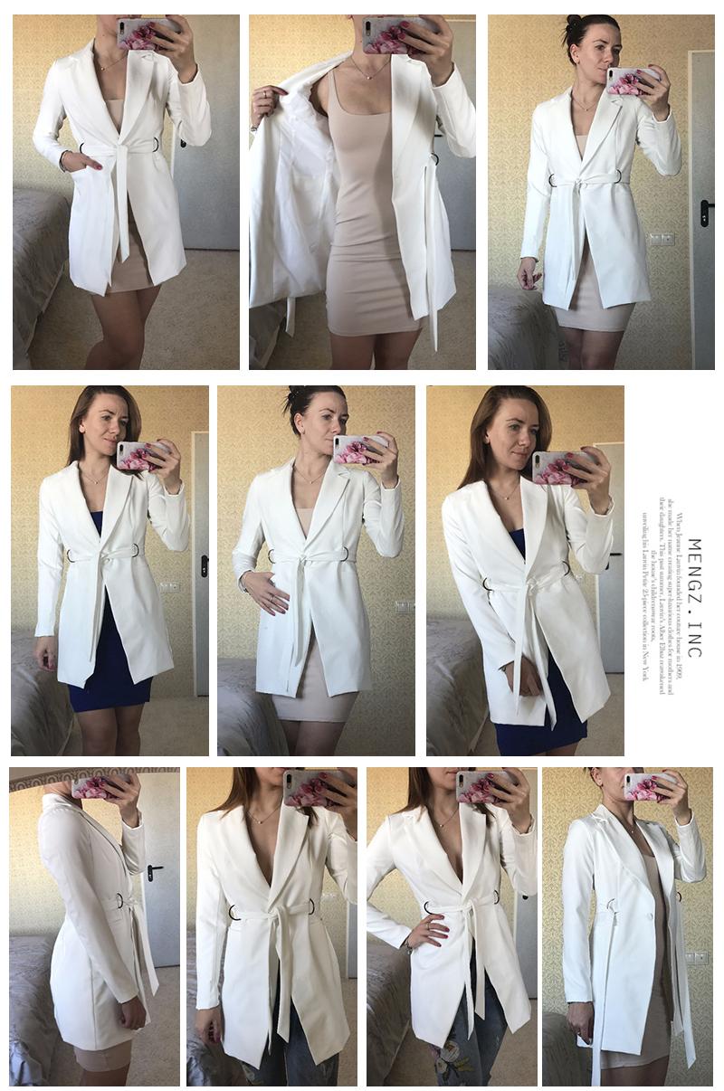 Hyh haoyihui kobiety dress vestidos bialy wysokiej talii dorywczo szczupła ol sukienki sexy plunge neck elegancka marynarka mini dress 4