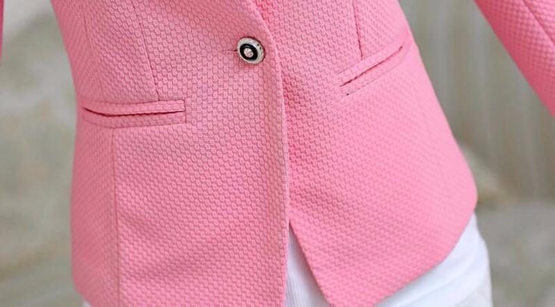 Wiosna Kobiet Szczupła Marynarka Płaszcz 2016 New Fashion Casual Kurtki Z Długim Rękawem Jeden Przycisk Garnitur Ladies Blazers Pracuj Wear BN026 14