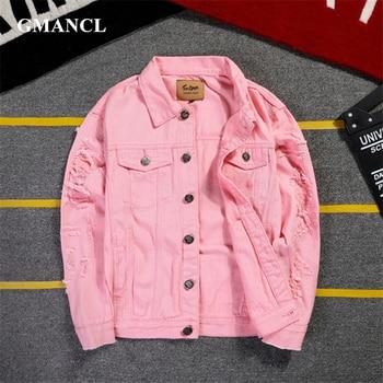 249fef6f Home · Men's Clothing · Jackets & Coats · Jackets. 2019 New 5XL 4XL Pink  Ripped Denim Jackets Men/Women Hip Hop Holes—Free