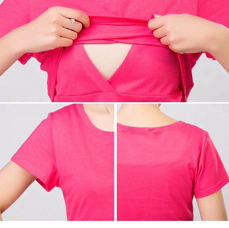 2016 lato macierzyństwo pielęgniarstwa ubrania kobiet w ciąży karmienie piersią karmienie piersią nakrywa trójniki t-shirt maxi premama nosić clothing 4
