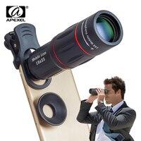 APEXEL 18X Teleskop Zoom Handy Objektiv für iPhone Samsung Smartphones universal clip Telefon Kamera Objektiv mit stativ 18XTZJ