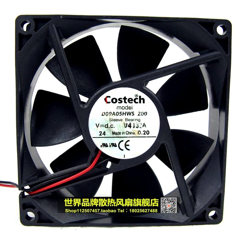 Original Costech 9cm 24V 0.20A 9025 D09A05HW 90 * 90 * 25mm dual ball wind capacity inverter fan