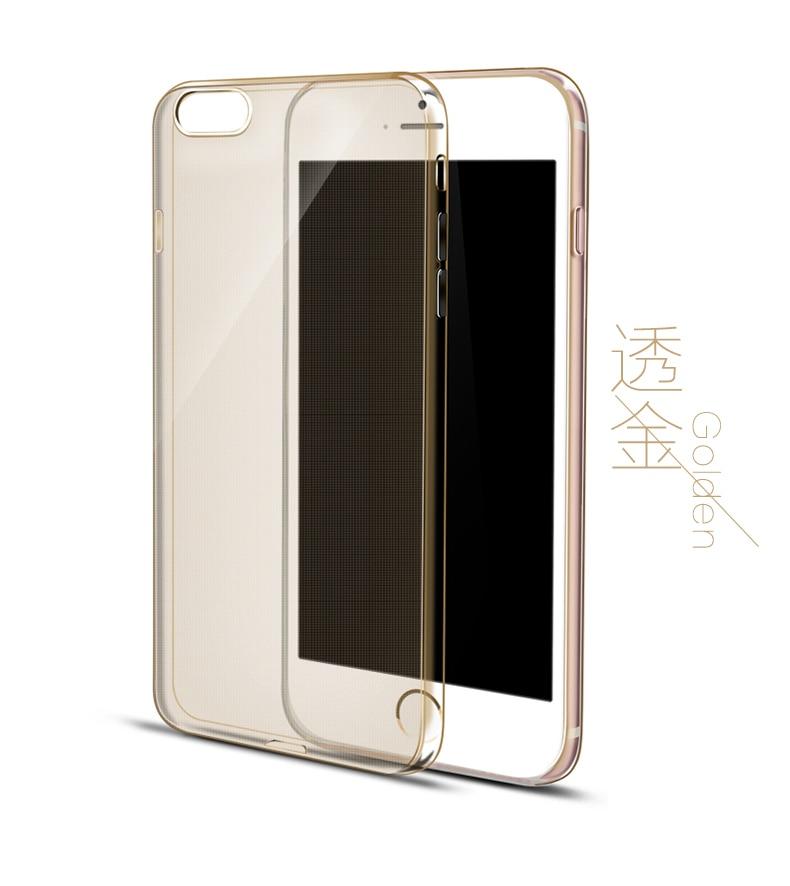 Esamday Ultra Thin Miękka TPU Gel Oryginalny Przezroczysty Case Dla iPhone 6 6 s 7 7 Plus 6 sPlus Crystal Clear Silicon Obejmują Przypadki Telefonów 14
