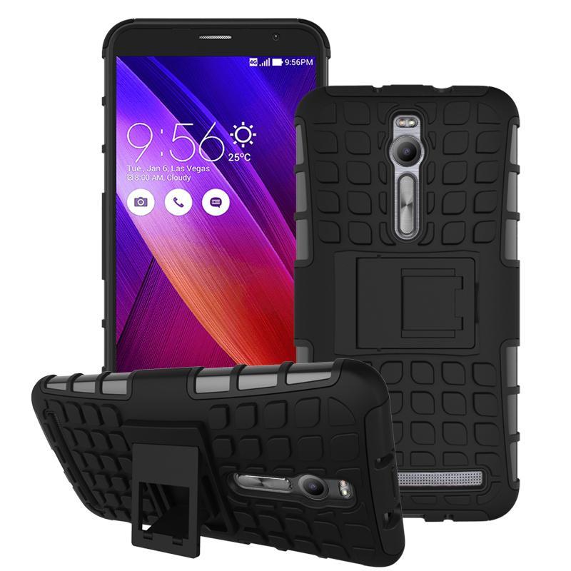 For Asus Zenfone 2 ZE551ML ZE550ML Case Heavy Duty Armor Stand Shockproof Hybrid Hard Soft Rugged Silicon Rubber Phone Cover HTB1YqraJFXXXXXSXXXXq6xXFXXXM