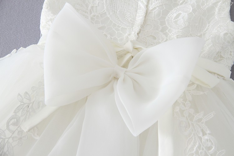 Ivory Tulle Lace Flower Girl Dress 11
