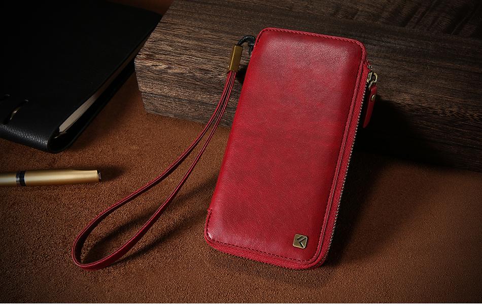 Floveme vintage wallet case dla iphone 6 6 s 7 plus skórzanej oprawie zipper torebka posiadacza karty retro przypadki telefonów dla iphone 6 6 s 7 14