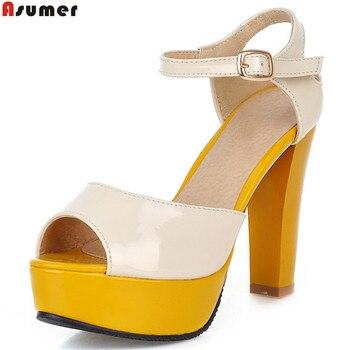 Rouge Mode Été Chaussures Jaune Bleu Peep Rose Dames fY7by6g