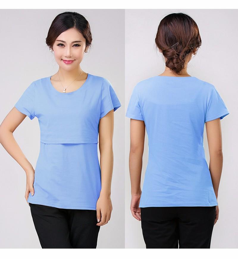 2016 lato macierzyństwo pielęgniarstwa ubrania kobiet w ciąży karmienie piersią karmienie piersią nakrywa trójniki t-shirt maxi premama nosić clothing 15