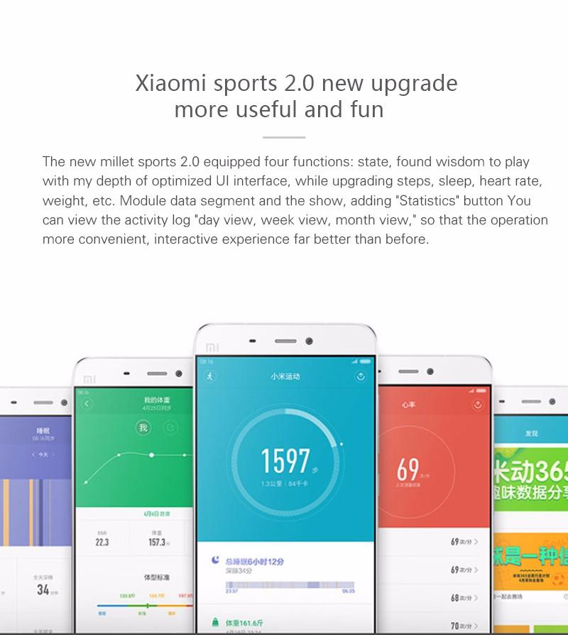 Oryginalny xiaomi mi kompania 2 miband bransoletka wistband inteligentnego tętno fitness ekran oled wyświetlacz dla iphone 7 touchpad bluetooth 27