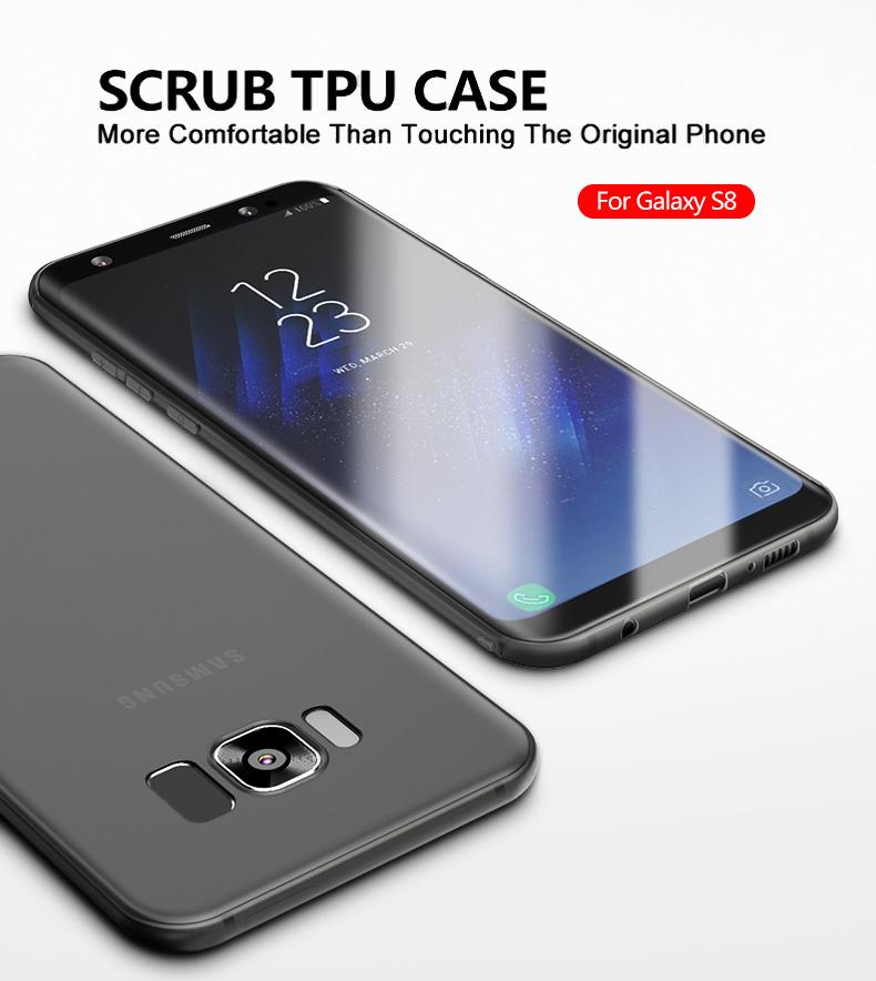 Cafele miękka tpu case do samsung s8/s8 plus sprawach slim powrót protect skóry ultra thin telefon pokrywa dla samsung galaxy s8 plus 1
