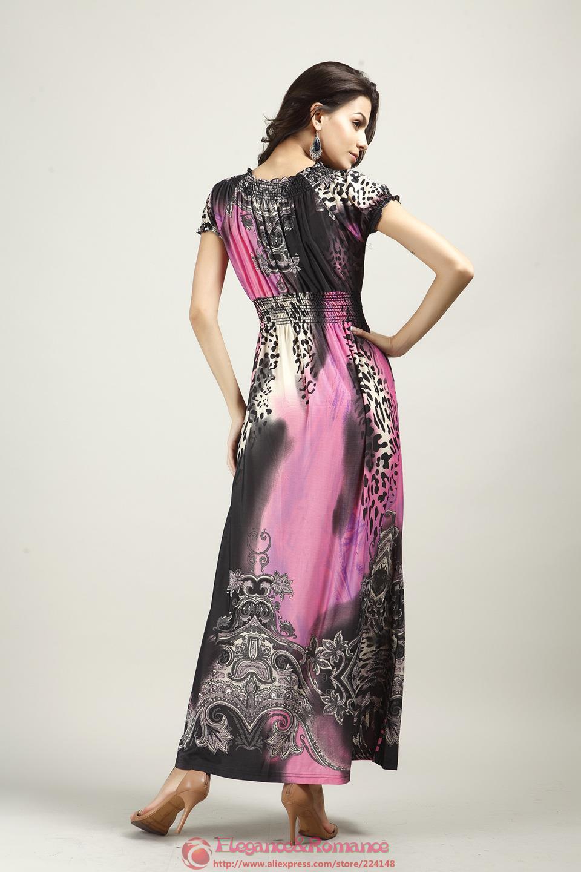 2016 New Retail Wiosna I Lato Moda Na Plaży Sukienka Leopard Sukienka Czeski Mopem Duży Rozmiar Ice Silk Suknie 10