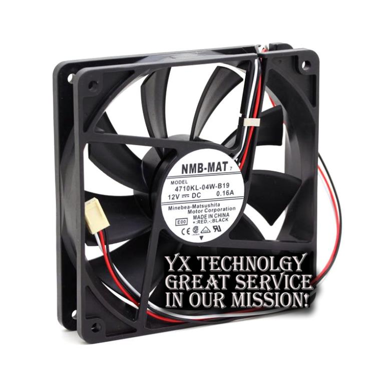 NMB The new 4710KL-04W-B19 12CM 12025 0.22A 12v professional chassis cooling fan 120*120*25mm