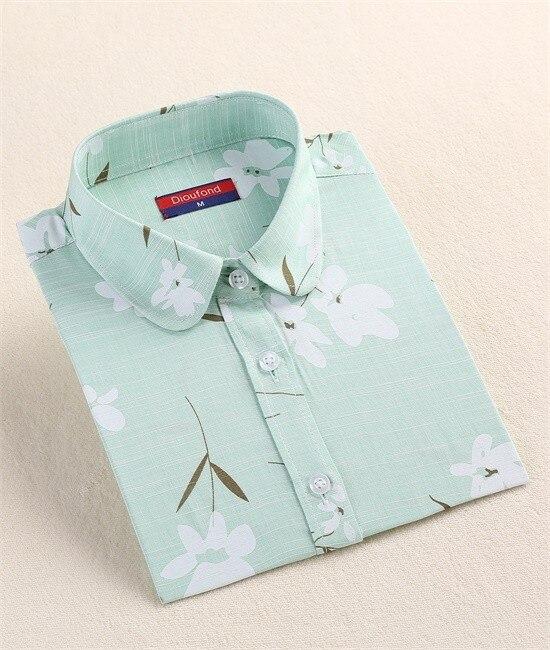 Harajuku druku kobiety bluzki bawełniane koszule z długim rękawem damskie bluzki collar floral clothing kobiet top koszula blusas duże rozmiary 5xl 11