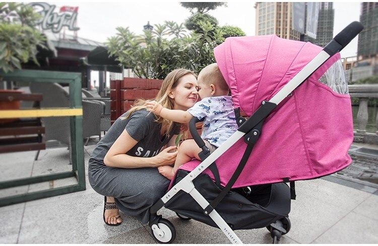 YOYA PLUS wózków dziecięcych ultra lekkie składane mogą usiąść może leżeć wysokiej krajobrazu parasol wózek dla dziecka latem i zimą 12