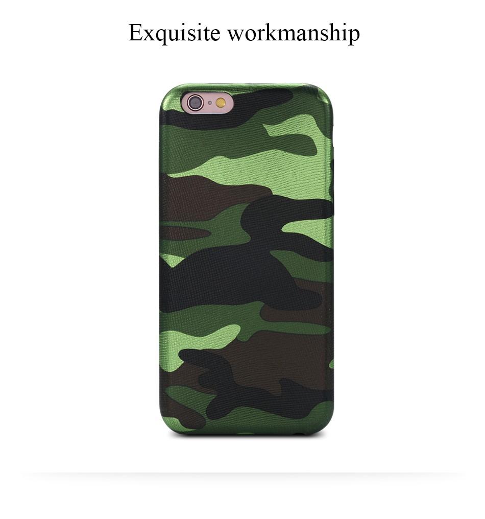 Dla iphone 7 5 5s se case wojskowy kamuflaż mężczyzn skórzane torby telefon sprawach dla iphone 7 7 plus pokrywa dla iphone 6 6s plus 5 5S se 4
