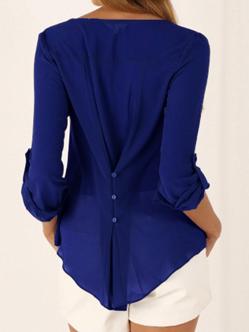 2016 Off Shoulder Długi Rękaw, Dekolt V kobiet Topy Lato Style Solidna Blusas Femininos Kobiety Bluzki Koszula 9