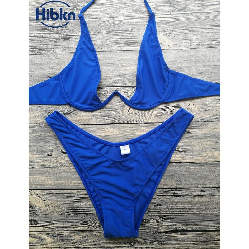 Bikini 2017 wysoka cut stringi stroje kąpielowe kobiety Brazylijski Biquini strój kąpielowy wysokiej talii strój kąpielowy Stałe pływać plaża micro bikini set 9