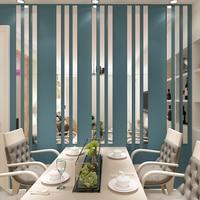 간단한 라인 아크릴 3D 벽 스티커 배경 벽 장식 천장 허리 라인 거실 식당 아트 벽 장식 10 개