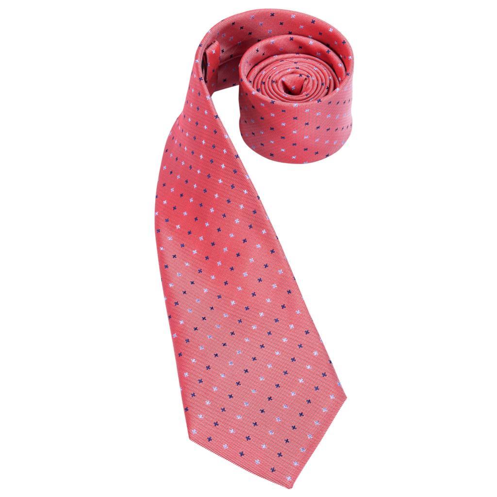 Cravates Rose Corail Nœud Contraste Noir//Corail Rose à Pois Cravate Skinny Tie 6 cm