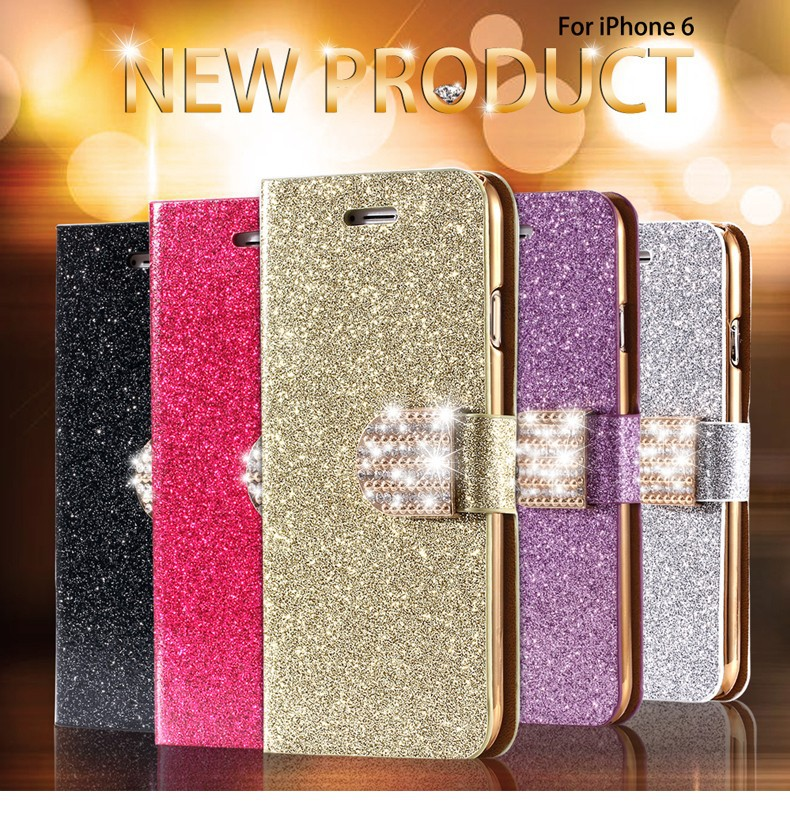 Kisscase dla iphone 5s case glitter bling skórzane etui dla iphone 5 5s se 6 6 s 7 plus stań portfel pokrywa dla iphone 7 7 plus SE 1