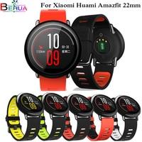 22mm 스포츠 실리콘 손목 스트랩 밴드 huami Amazfit Stratos Pace 3 2 2S 스마트 시계 밴드 팔찌 Xiaomi MI Watch Color