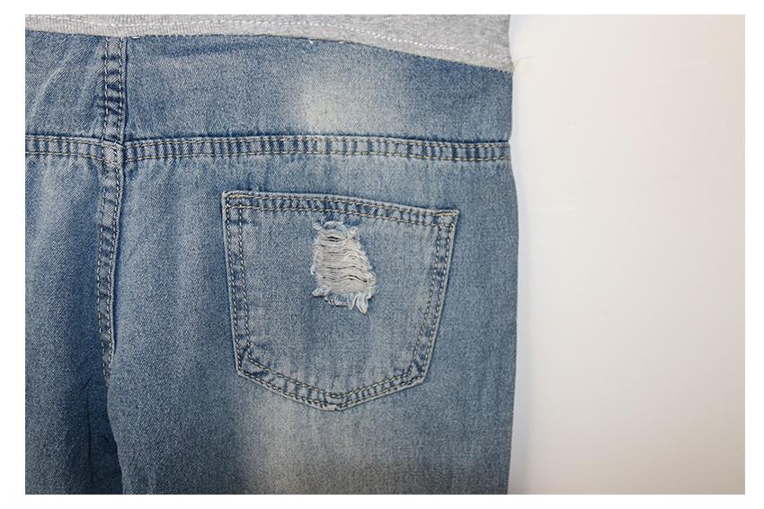 2016 gourd doll opieki macierzyński ciąży jeans spodnie dla kobiet w ciąży elastyczny pas jeans kombinezony odzież ciąży ciąża 9
