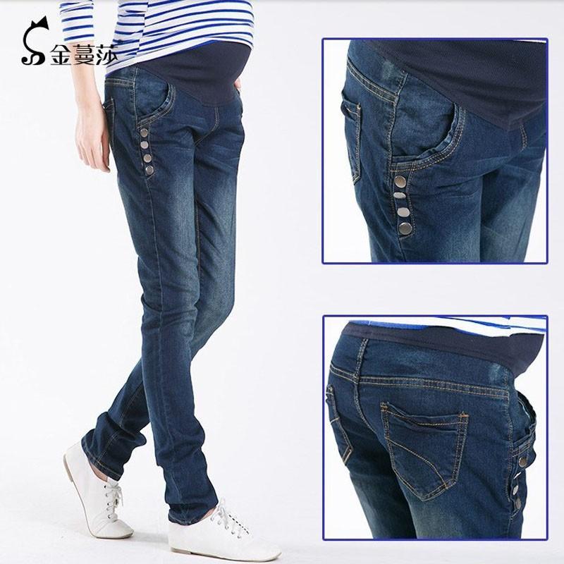 Spodnie Ciążowe jeansowe Spodnie Jeansowe Spodnie Dla Kobiet W Ciąży Ciąża Odzież Laktacja Ropa Para Embarazadas 2017 Ubrania Matki 6