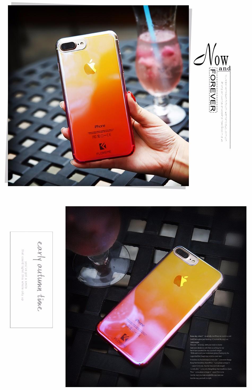 Floveme dla iphone 6 6s plus case 5 5S se gradient blue-ray światło case dla apple iphone 7 7 plus 5S jasne akcesoria pokrywa Capa 9