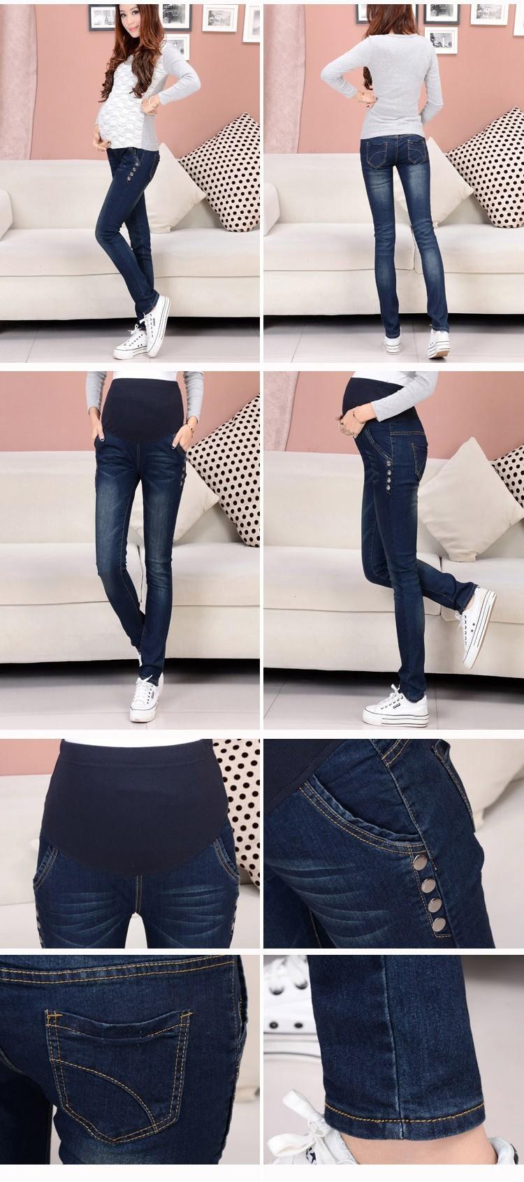 Spodnie Ciążowe jeansowe Spodnie Jeansowe Spodnie Dla Kobiet W Ciąży Ciąża Odzież Laktacja Ropa Para Embarazadas 2017 Ubrania Matki 11