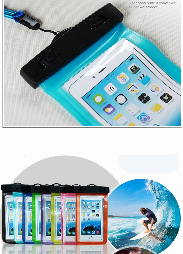 Esamday wodoodporna podwodne telefon case torba pokrowiec na iphone 6 7 6 s 7 plus 5 5c 5S se dla galaxy grand prime s6 s5 huawei xiaomi 5