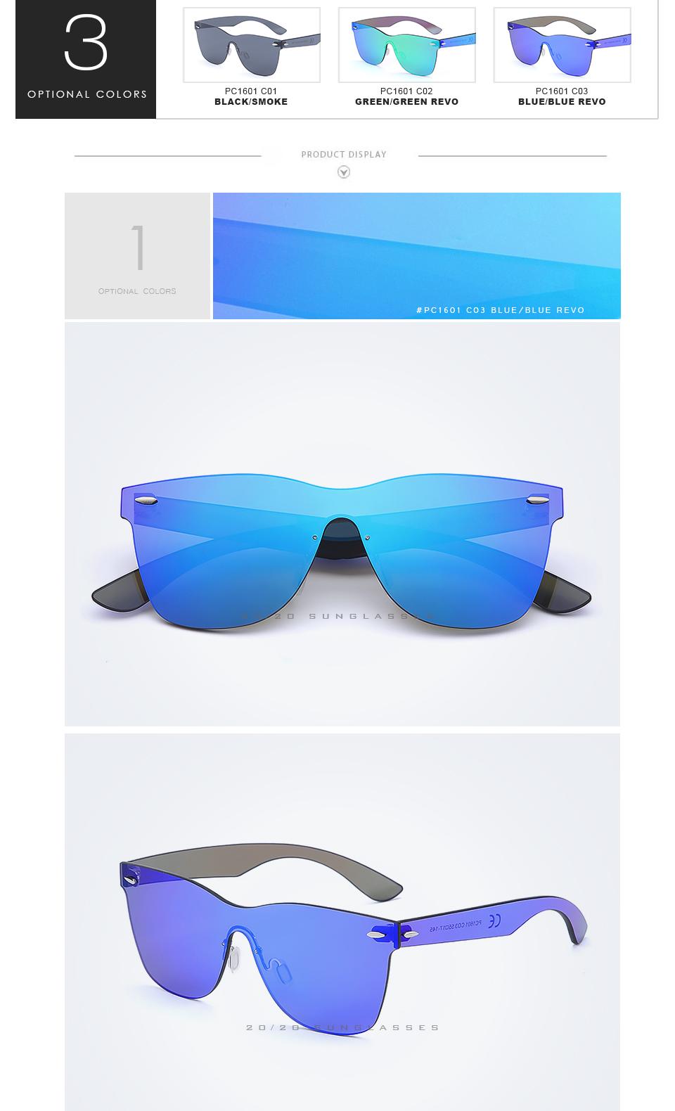 20/20 Marka Vintage Style Bez Oprawek Okularów Przeciwsłonecznych Mężczyzna Soczewka Płaska PC1601 Kwadratowych Rama Kobiety Okulary Óculos Gafas 2