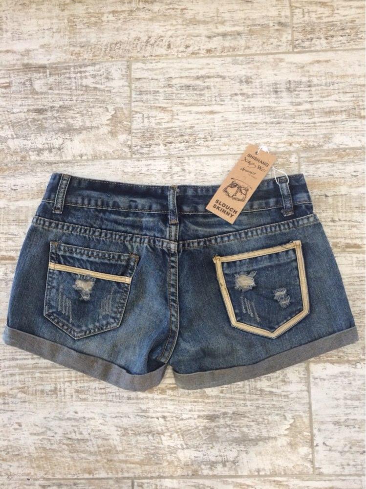 Vintage Club Denim Ripped Shorts 3