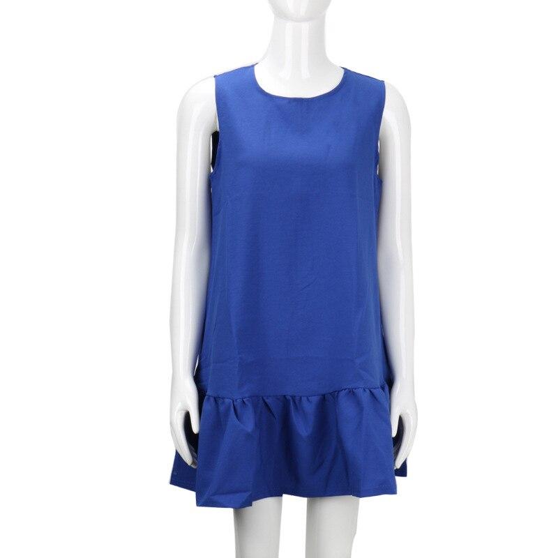2017 damska vestidos sexy ruffles dress lato casual linia bez rękawów bodycon dress kobiety party plus rozmiar krótki mini suknie 13
