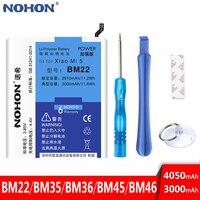 Original NOHON BM22 BM36 BM45 BM46 Batterie Für Xiaomi Mi 5 5S Mi5 Mi4C Mi5S Redmi Hinweis 2 3 pro Telefon Ersatz Werkzeuge