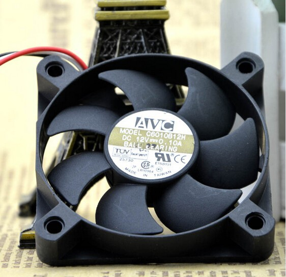 AVC 60*60*10 12V 0.10A 6CM CPU chassis power supply fan C6010B12H mute