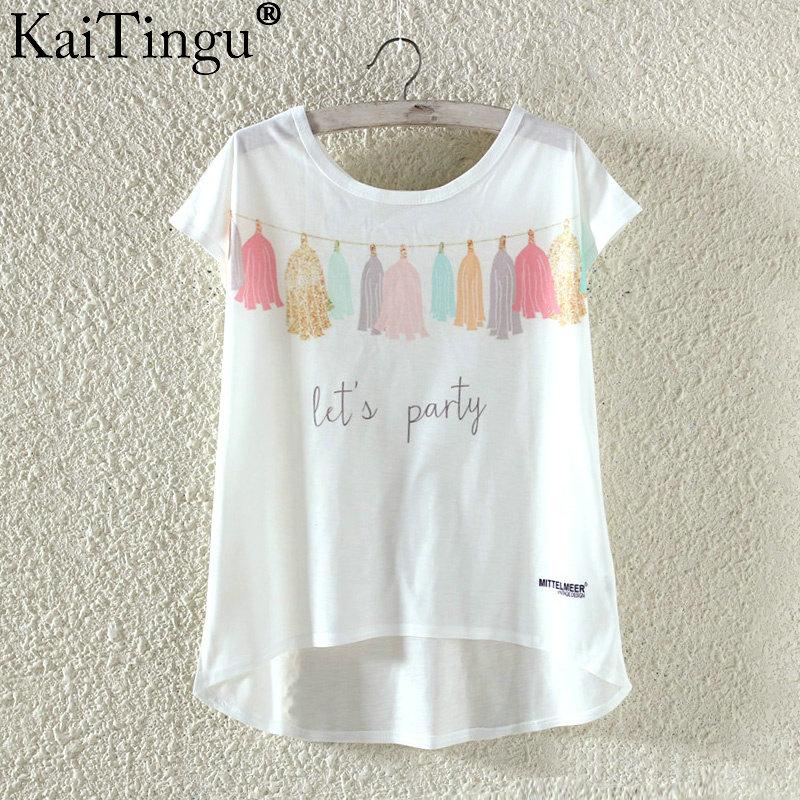 Kaitingu kawaii śliczne t koszula moda lato harajuku wysoki niski styl cat print t-shirt z krótkim rękawem t shirt kobiet topy plus size 13