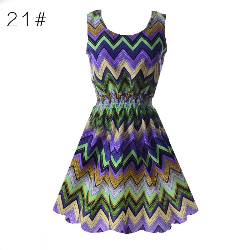 Sexy kobiety chiffon dress sundress plaża floral bez rękawów tank mini sukienki vestido 22