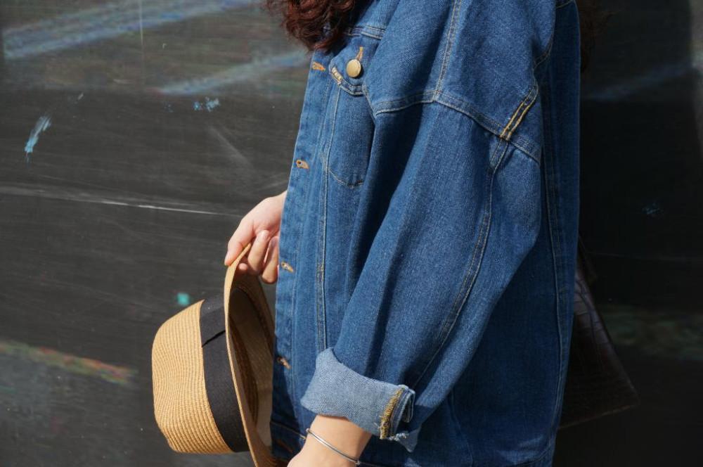 Bf Wiatr Jesienią I Zimą Kobiet Kurtka Dżinsowa 2017 Rocznika Harajuku Oversize Luźne Kobiet Jeans Płaszcz Solidna Slim Chaquetas Mujer 6