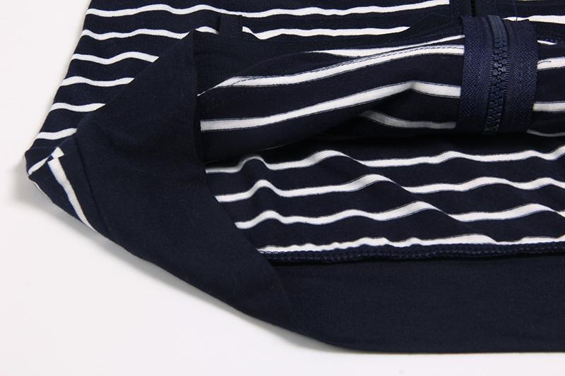 Moda damska Stripes Casual Zipper Bluzy Z Kapturem Kieszeni Kobiety Bluza Plus Rozmiar S-5XL LJ7847R 9