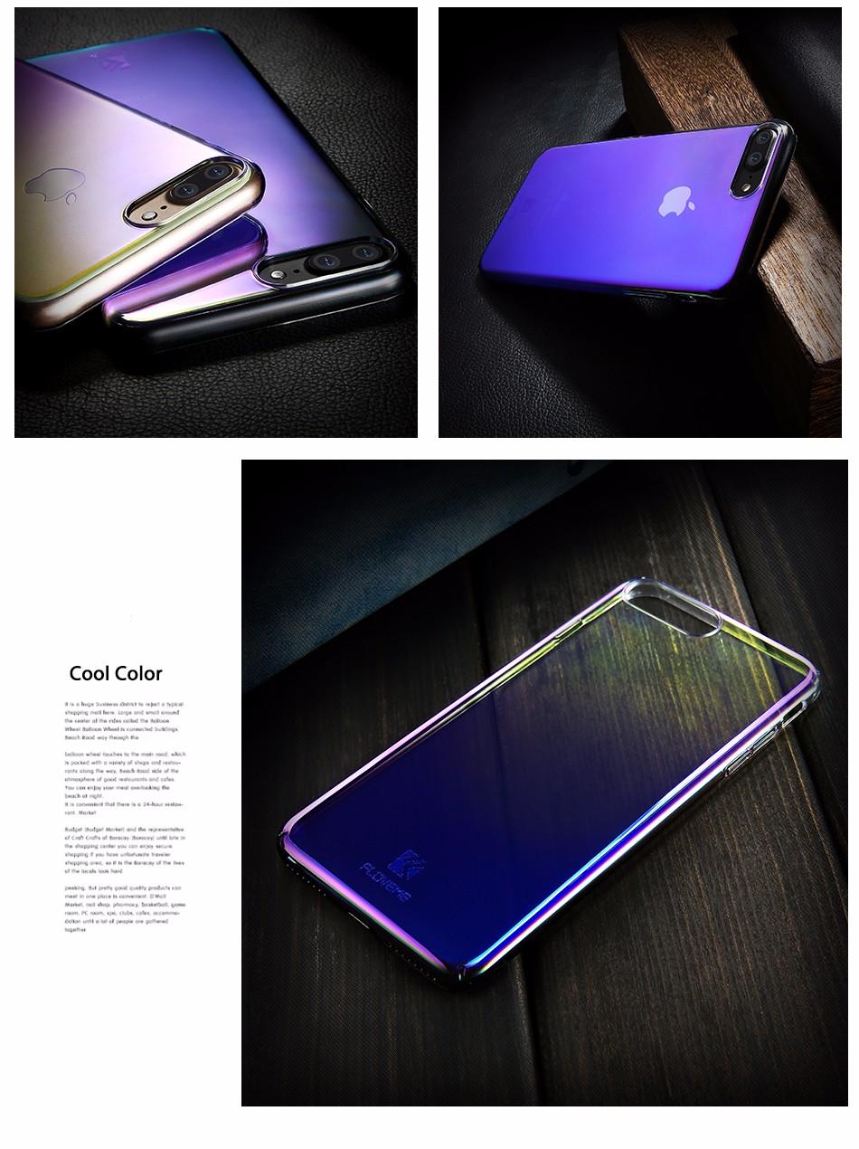 Floveme dla iphone 6 6s plus case 5 5S se gradient blue-ray światło case dla apple iphone 7 7 plus 5S jasne akcesoria pokrywa Capa 3