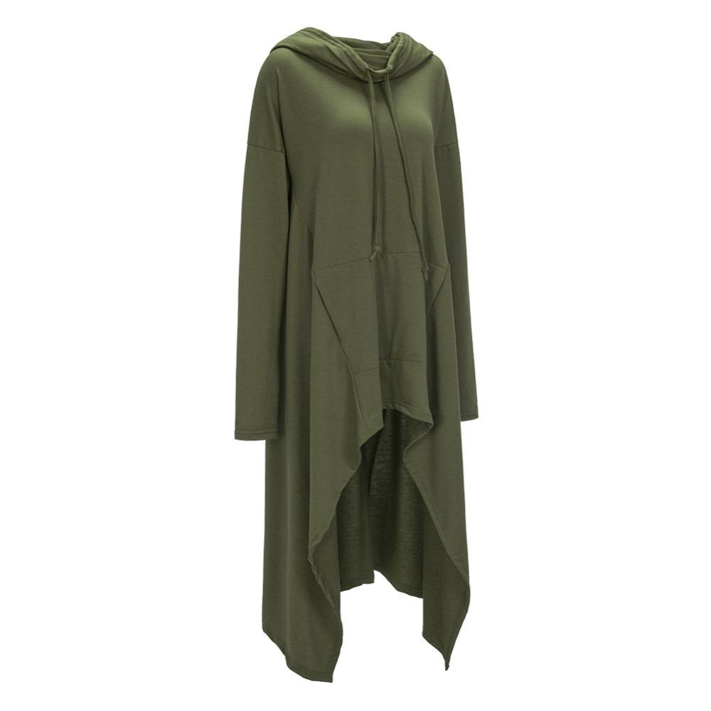 Preself Oversize Sweter Z Kapturem Bluza Kobiety Hoody Blaty Kobiet Luźna Z Długim Rękawem Płaszcz Z Kapturem Na Co Dzień Znosić Pokrywa Swetry Ubrania 11