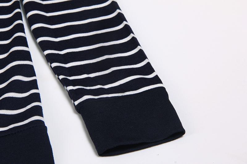 Moda damska Stripes Casual Zipper Bluzy Z Kapturem Kieszeni Kobiety Bluza Plus Rozmiar S-5XL LJ7847R 7