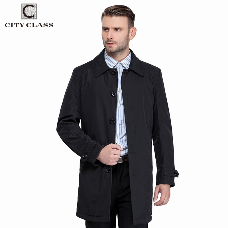 9202b19416a CITY CLASS New Mens Autumn Coats Fashion Casual Classic Trenchs Fit  Turn-down Collar Jackets