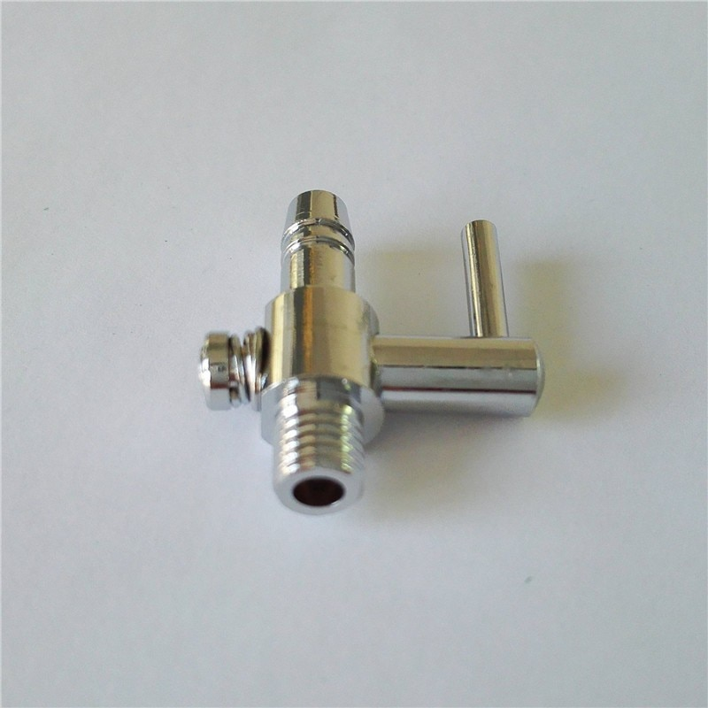 1 Pcs 4mm Connector Diameter Silver Tone Metal Tubing