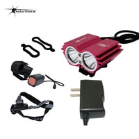 Solarstorm Bicycle Light 8000 Lumens 6400mAh Battery LED Cycling Headlamp Bike Lamp   laser Rear Light Bicycle Accessories
