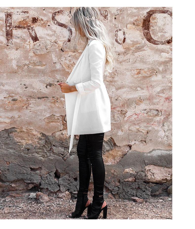 RichLuLu Bialy Blazer Kobiety Odzież Belt Biuro Panie Długi Rękaw Elegancka Kurtka Kobiet Głęboki Dekolt Blazer Cardigans 14
