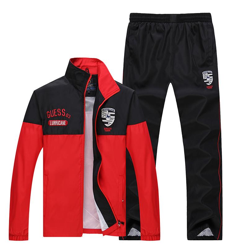 New Arrival Marka Dres Casual Sporta Kostiumu Mężczyźni Mody Bluzy Zestaw Kurtka + Spodnie 2 SZTUK Poliester Sportowej Mężczyzn 4XL 5XL SP019 12