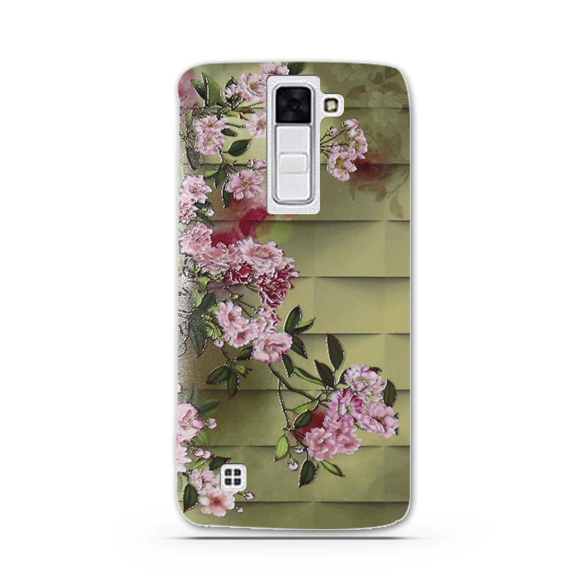 """Case Miękka TPU Luksusowe 3D Ulga Druk Pokrywy Skrzynka Dla LG K8 Lte K350 K350E K350N 5.0 """"K 8 Telefon Powrót Silicon Pokrywa Bag Sprawach 8"""