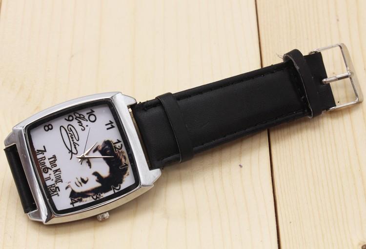 2017 w nowym stylu Mody Chłopcy i dziewczęta Elvis Presley pasek zegarka zegarek prezent 5