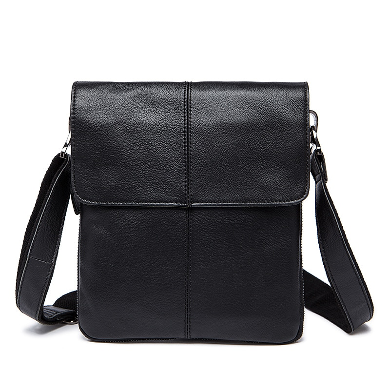 MVA Messenger Bag Men s Genuine Leather shoulder bag for men leather man  fashion Small Flap male 9fffb11fb2514